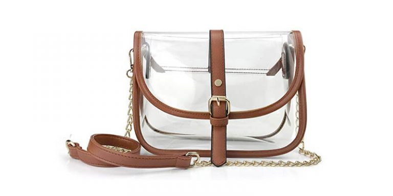 Enjoy these transparent handbags on a bright sunny day