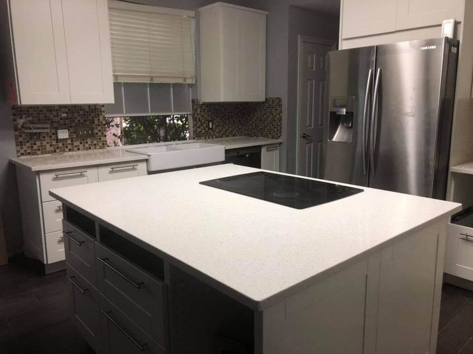 crystal white quartz countertops