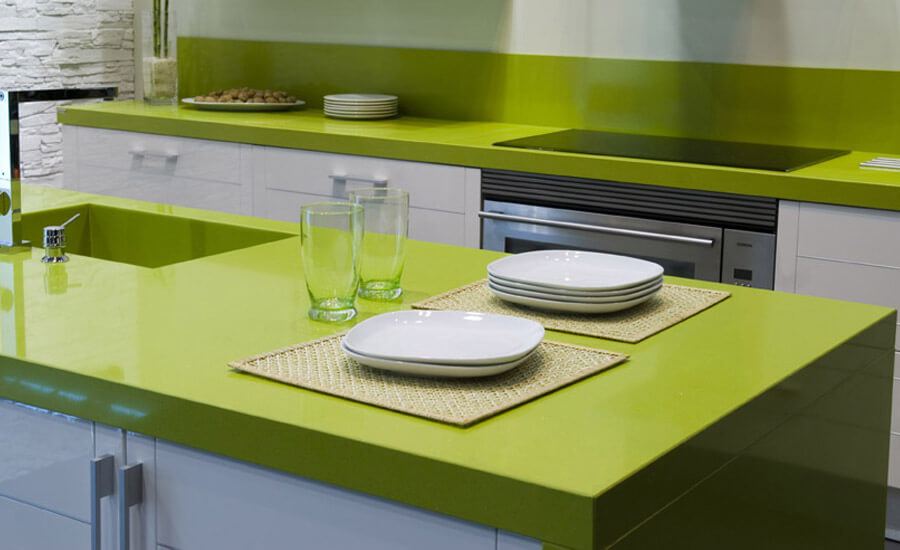 green quartz countertops